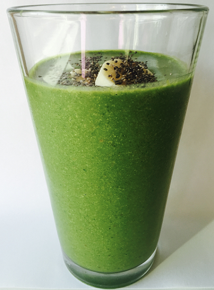 Green smoothie with banana